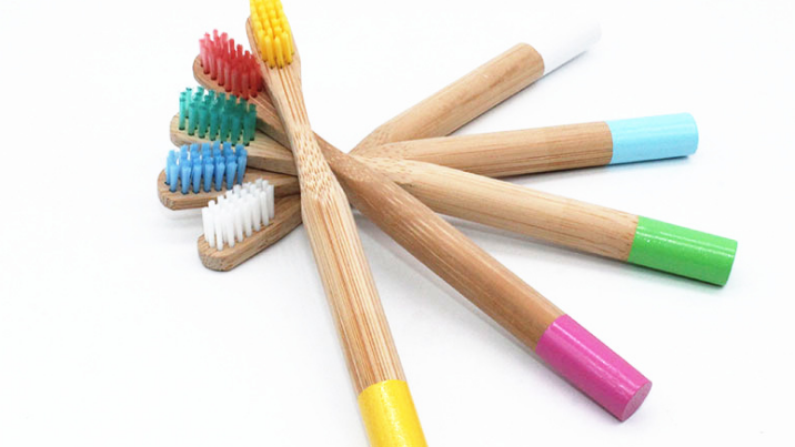 Natural Bamboo Toothbrush Biodegradable Wooden Eco-friendly Teeth