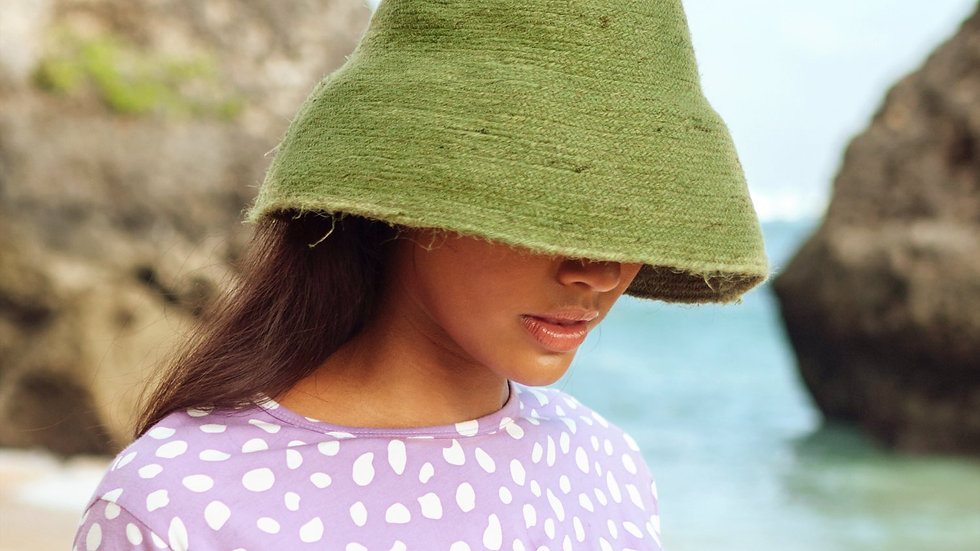 NAOMI Jute Bucket Hat, in Matcha Green