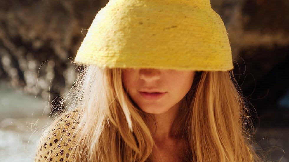 NAOMI Jute Bucket Hat, in Yellow
