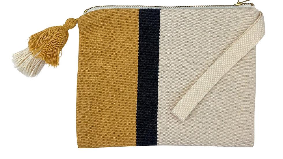 Handloom Stripe Cosmetic Bag