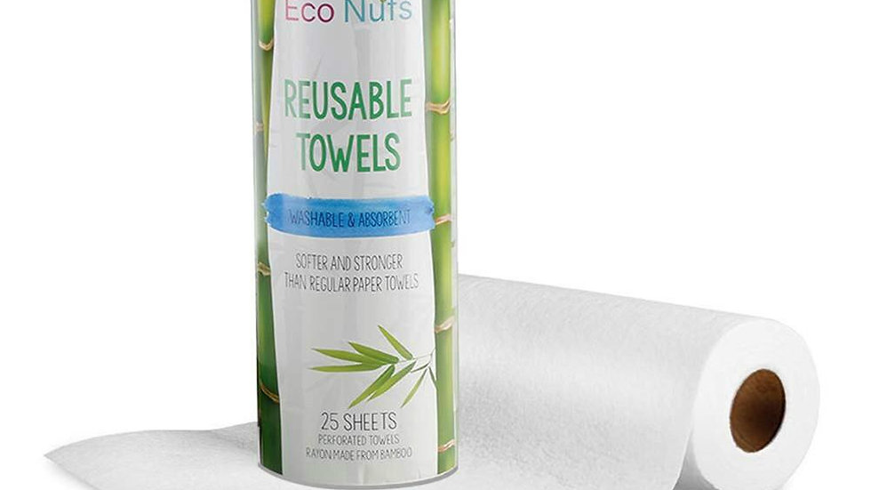 Bamboo Kitchen Paper Towel Roll, Organic & Washable.
