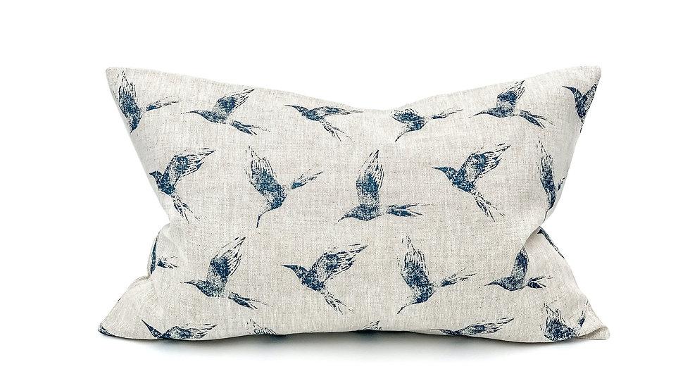 Inky Swallow Birds Lumbar