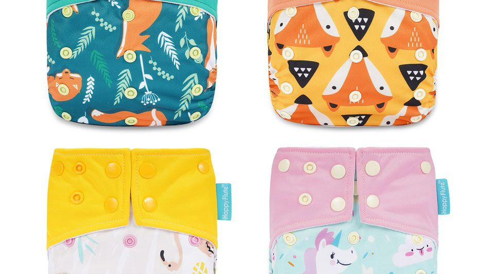HappyFlute Cloth Baby Diaper Waterproof and Reusable