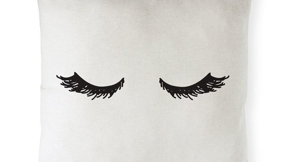 Mascara Closed Eyelashes Pillow Cover