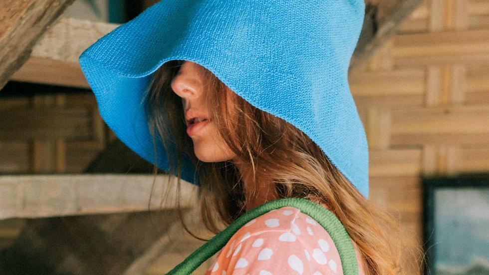 BLOOM Crochet Sun Hat, in Mosaic Blue