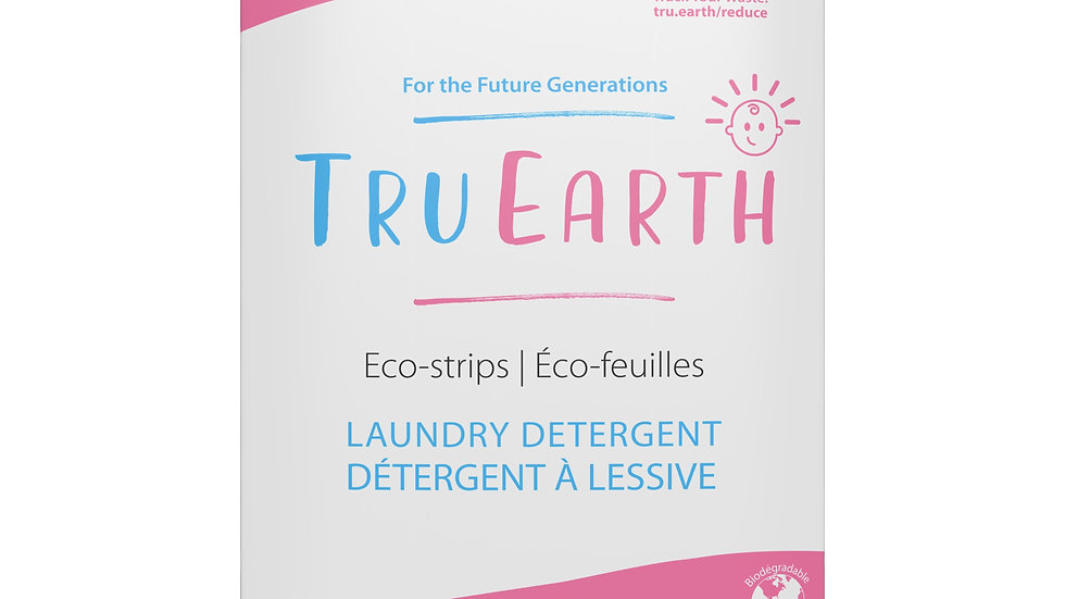 Tru Earth Eco-strips Laundry Detergent (Baby) - 32 Loads