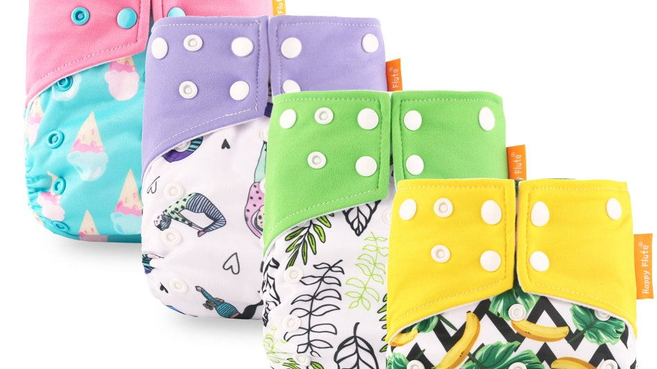 HappyFlute Baby Washable& Reusable Eco-Friendly Diapers.