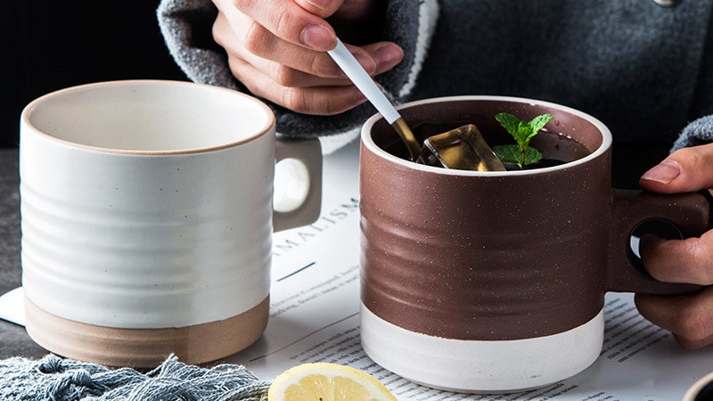 Creative Ceramic Mug Office Home Coffee Milk Juice