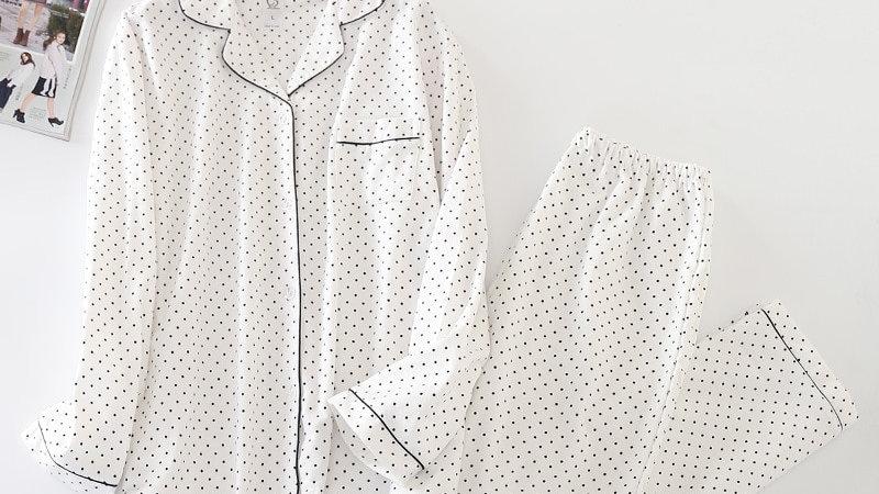 2019 Spring Women Sleepwear Cotton Pyjamas