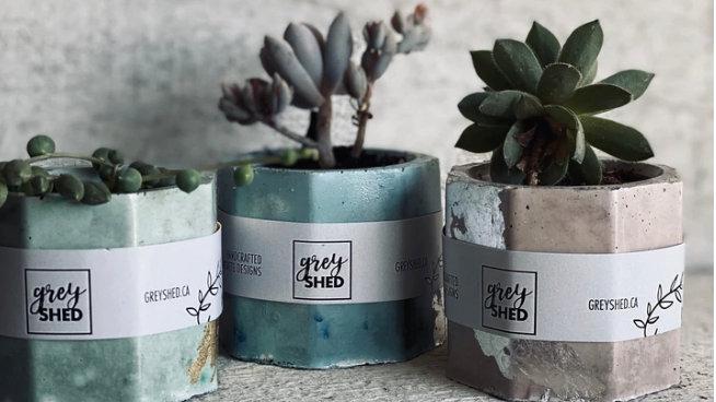 Concrete Geometric Planter- Small