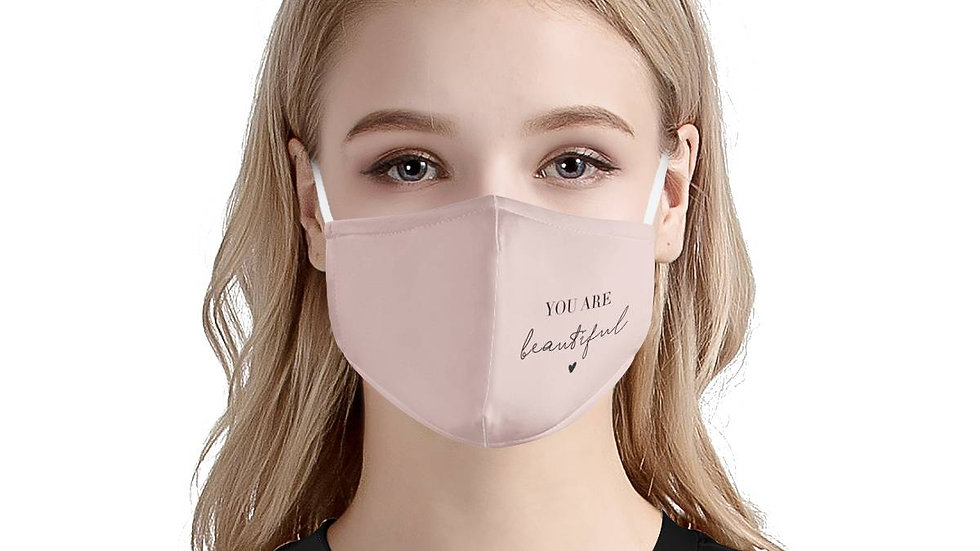 You Are Beautiful | 100% Soft Pima Cotton Triple Layer Face Mask