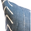 Thumbnail: Mudcloth Blue Grey With White Chevrons Pillow Cover