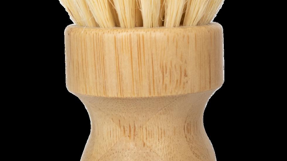 Sisal Mini Scrub Brush Bamboo Dish Scrubber