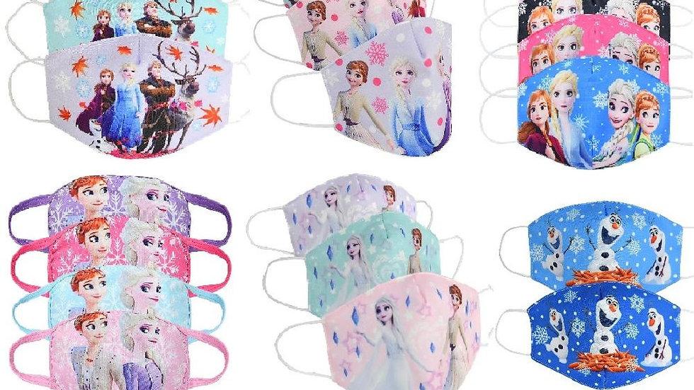 Disney Frozen Children's Cotton Face Mask Ages 3-12. Washable  & Anti-Dust.