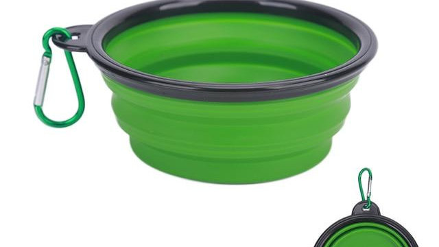 1PC Folding Silicone Dog Bowl Outfit Portable Travel Bowl For Dog