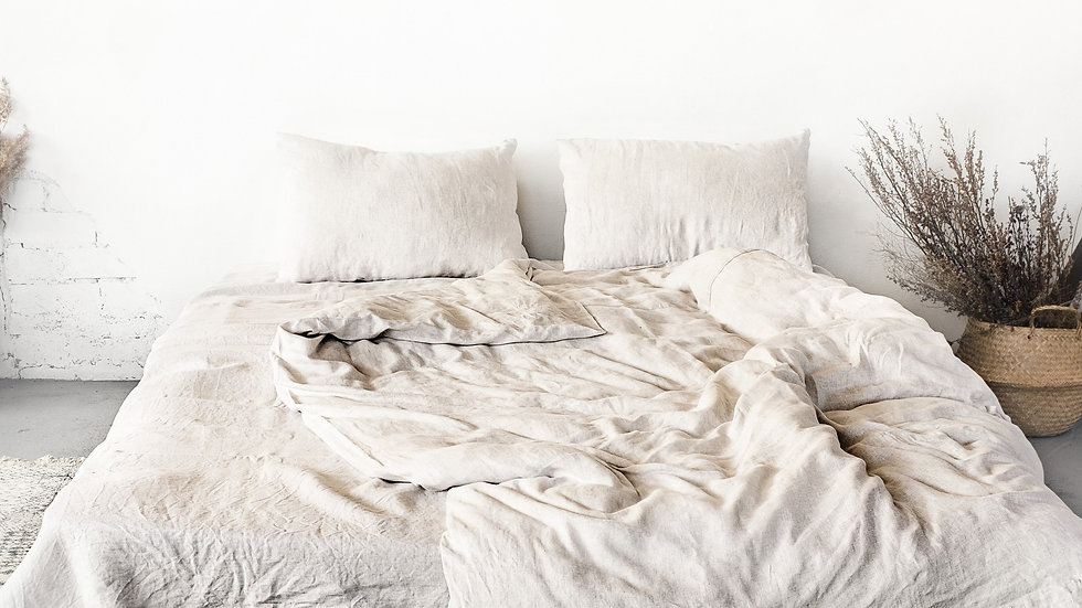 Natural light Linen Bedding Set