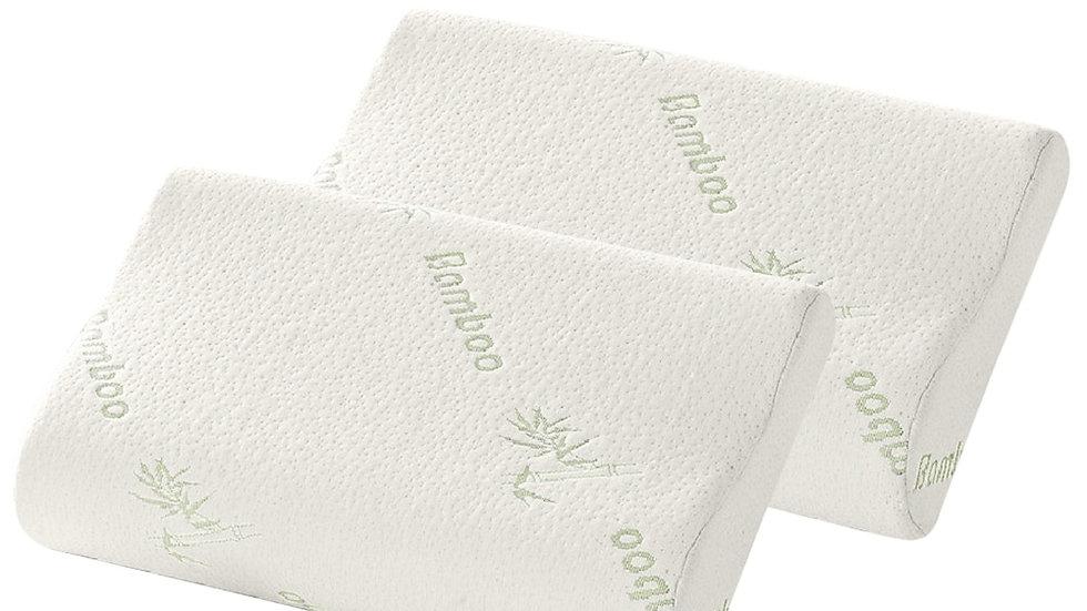 DIDIHOU 2pcs Bamboo Fiber Pillow Sleeping Memory
