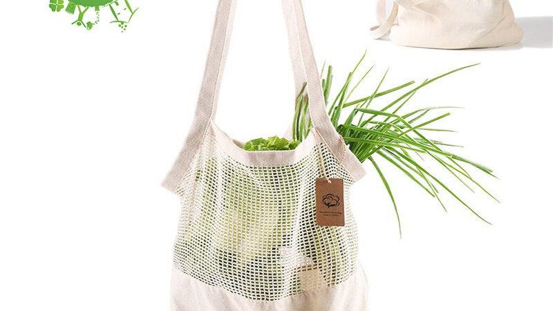 GreeOn Eco-Friendly Organic Cotton Mesh Produce Bag,  Zero Waste, Washable