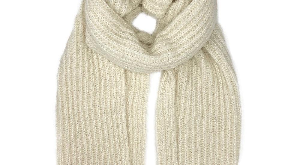 Chunky Snow Knit Alpaca Scarf