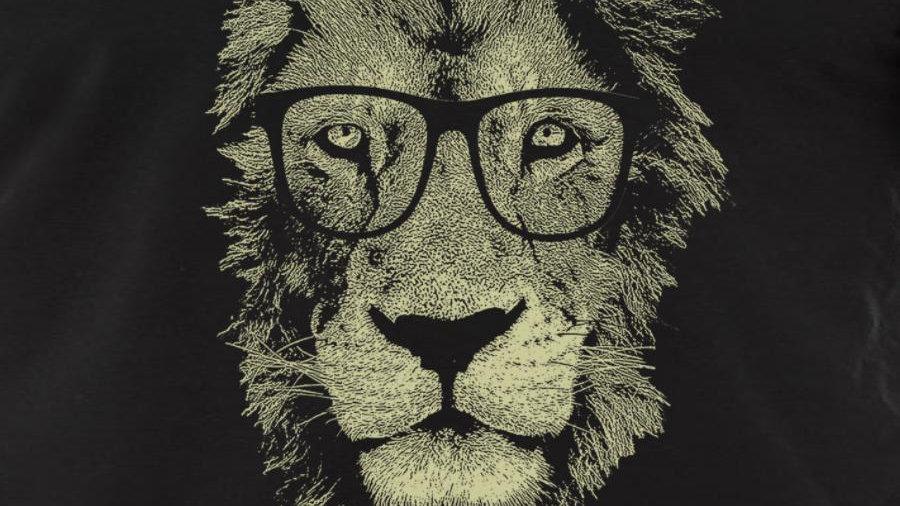 Lion Wearing Glasses