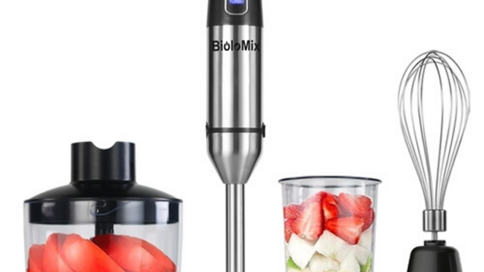 4 in 1 Stainless Steel 1100W Immersion Hand Stick
