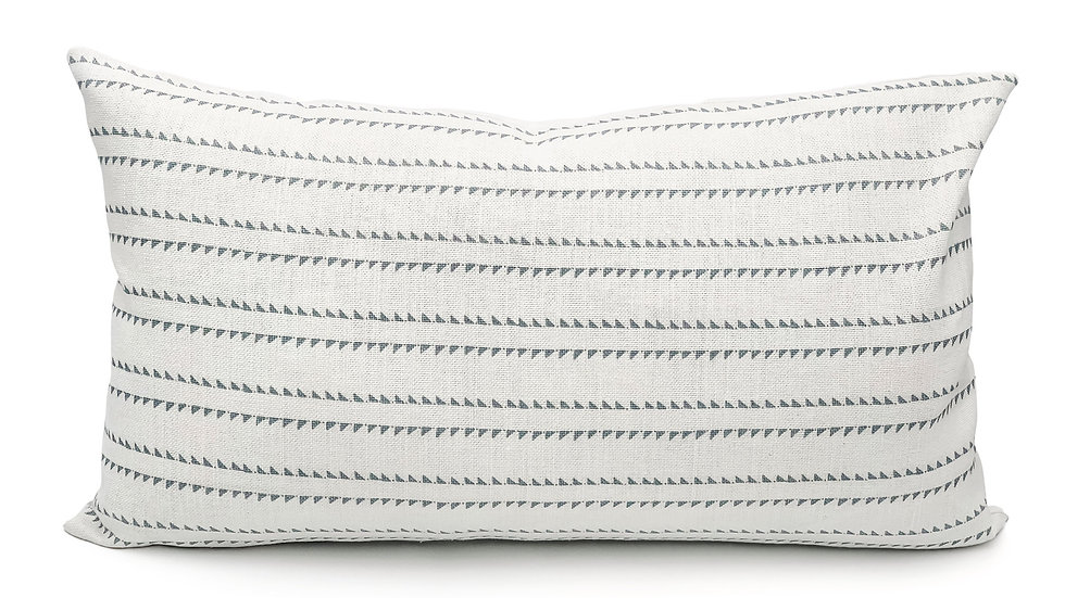 Rock Grey Stripes on White Lumbar