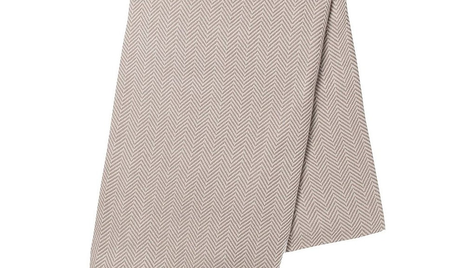 Sand Herringbone Turkish Towel