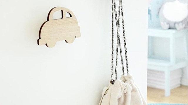 Clothing Hanger Wooden Anchor Kids Room Children