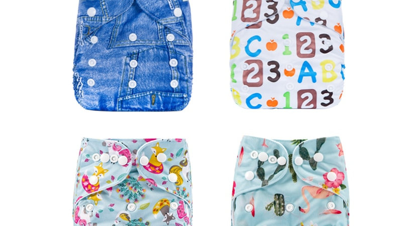 Baby Cloth Diapers, Washable, Breathable & Adjustable.