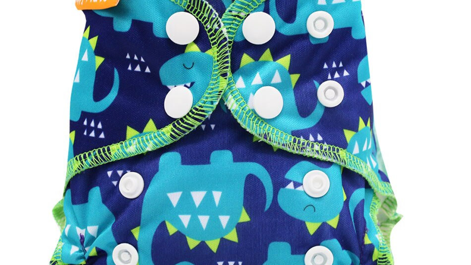 Organic Cotton, AIO Cloth Diaper,Waterproof PUL Fit 3-6kg Baby