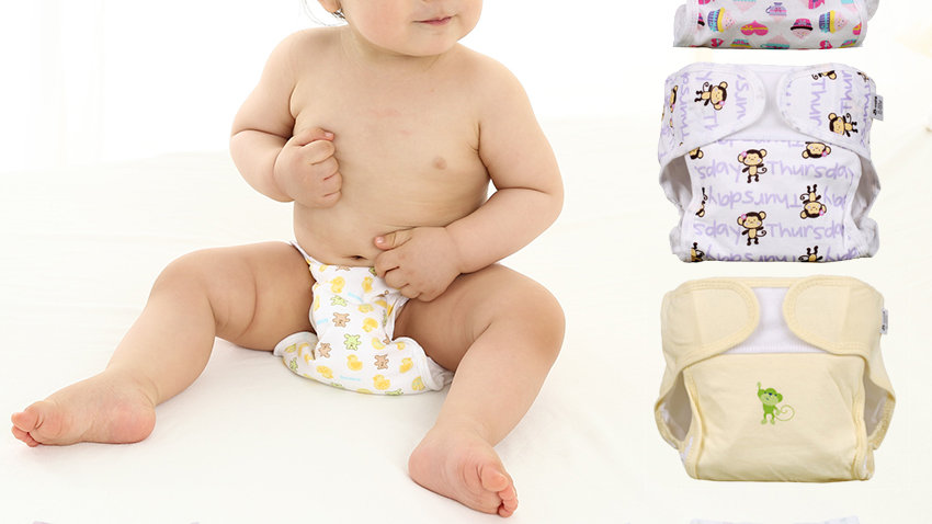 Reusable  Baby Diapers . Adjustable Size, Washable & Breathable.