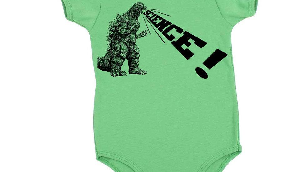 Godzilla Science onesie