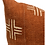 Thumbnail: Mudcloth Cream Crosses on Rust-Brown Pillow Cover