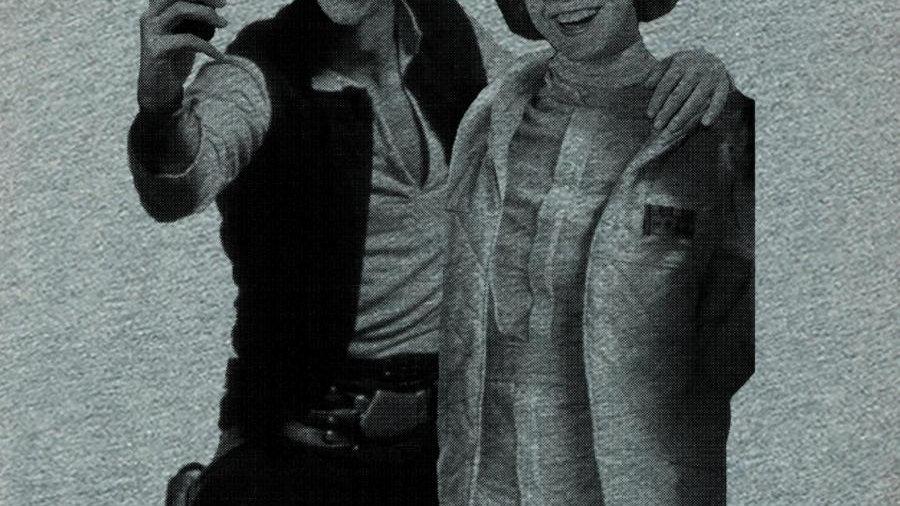Star Wars selfie, Han and Leia