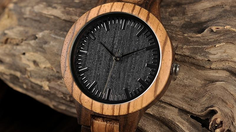 Mens Wooden Watches Band Japan Move' Quartz Wristwatch Gifts Watch For