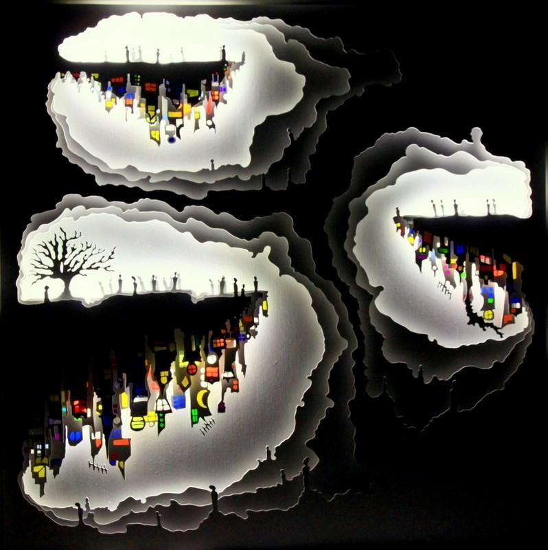 Les villes Cathédrales- vu le soir
