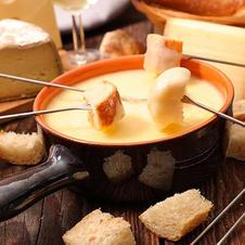 Leckeres Käsefondue aus der Region