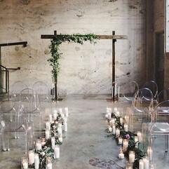 Industrial & romantic tiny wedding