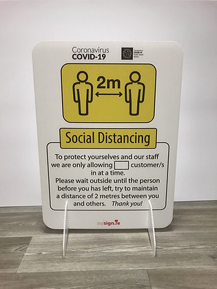 """Free standing """"Social Distancing"""" Covid-19 floor sign"""
