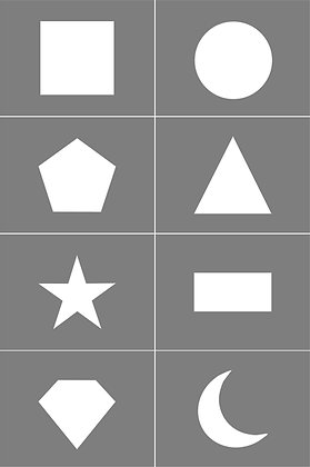 Geometric shape Stencil Multipack