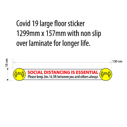 "XL ""Social Dist is Essential""Floor Sticker"