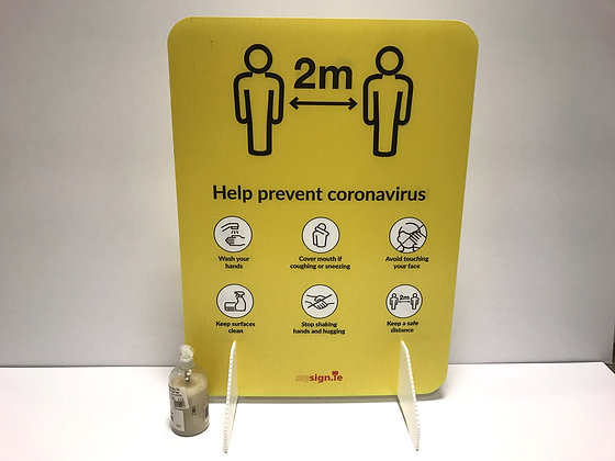 Free standing 2m Covid-19 floor sign