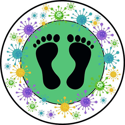Green Childrens circular indoor floor sticker