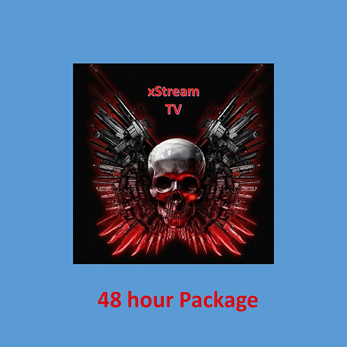 48 hour package = xStream Tech Services .... LIVE TV PACKAGE PLUS VOD