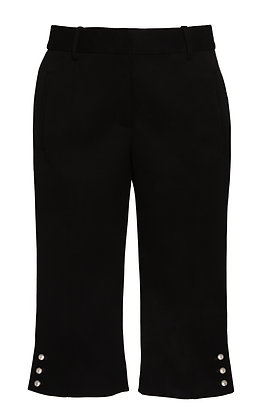 High-Rise Cotton Skinny Culottes