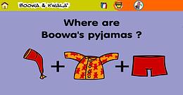 Zoek de pyjama