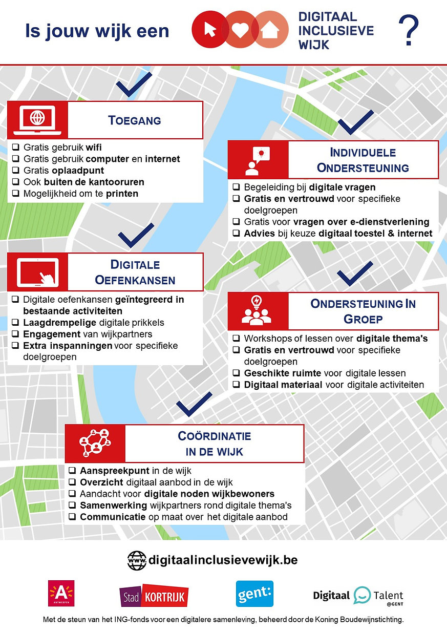 Infographic concept Digitaal Inclusieve