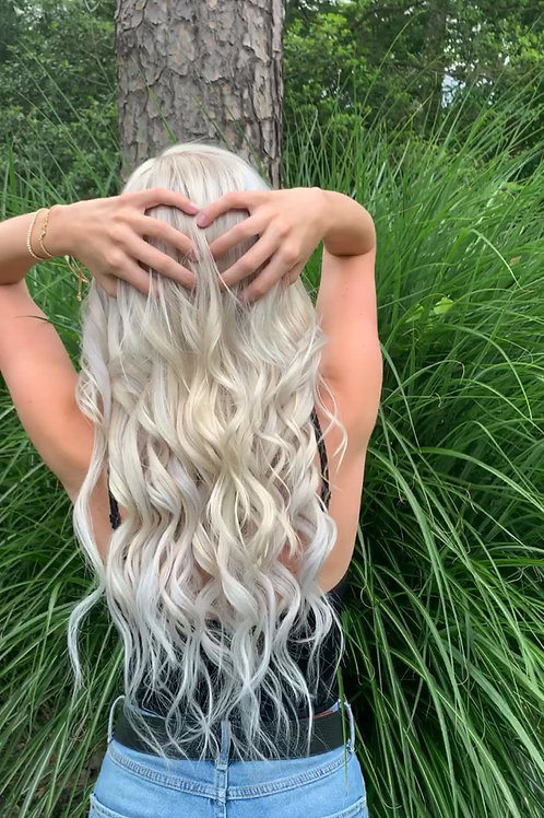 Ice Queen Single Drawn Clip-In Extensions