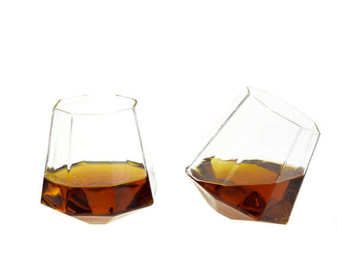 Diamond Whiskey Glasses