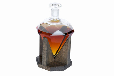 Diamond Whiskey Decanter With Base